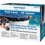 Pool vintercover m/wirelås 7,3x3,75 m ¤