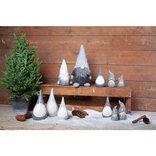 Julemand i keramik H13 cm grå