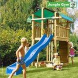 Jungle Gym Fort legetårn m/klatrevæg og lang rutschebane ¤