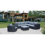 Enehøje loungesæt i sort