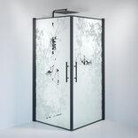 Fjäll brusedør 100 x100 cm deco glas sort ¤
