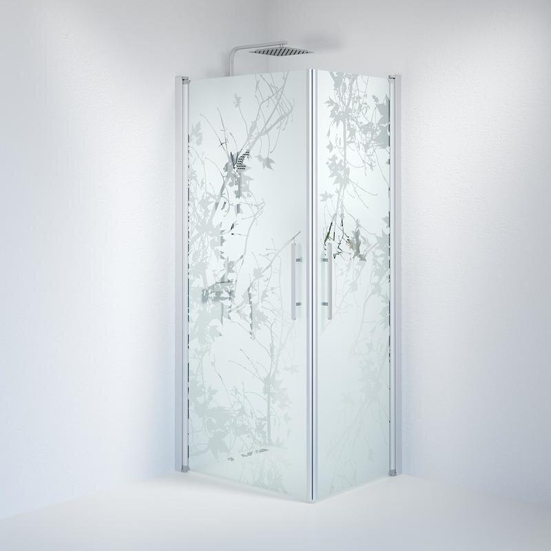 Billede af Fjäll brusedør 70x90 cm deco glas satin