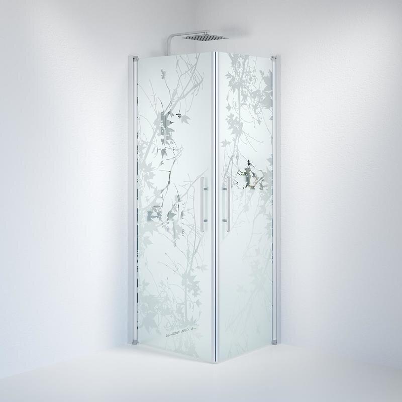 Billede af Fjäll brusedør 70x80 cm deco glas satin