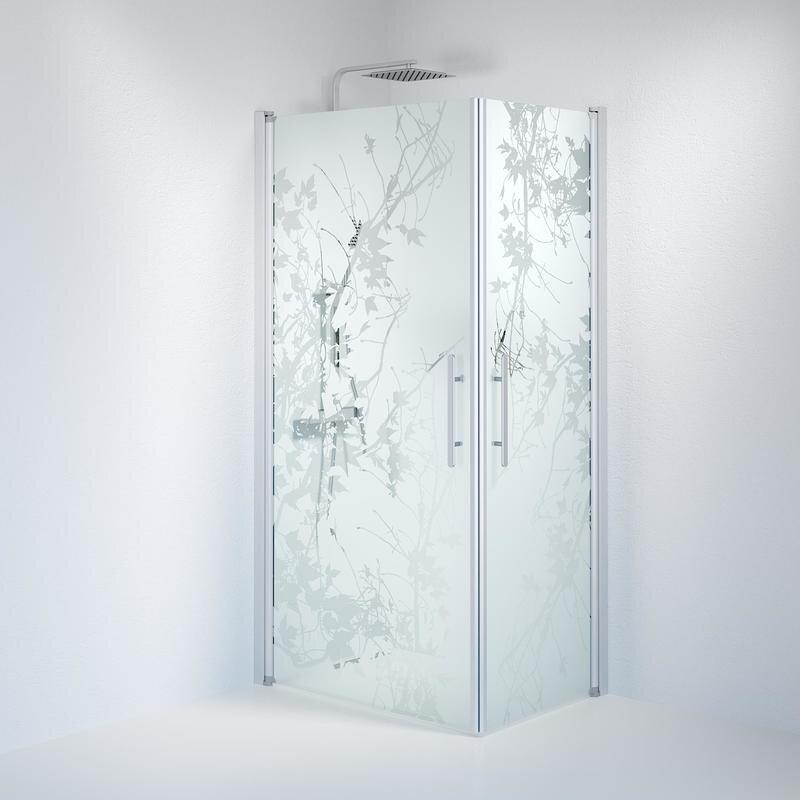 Billede af Fjäll brusedør 70x100 cm deco glas satin