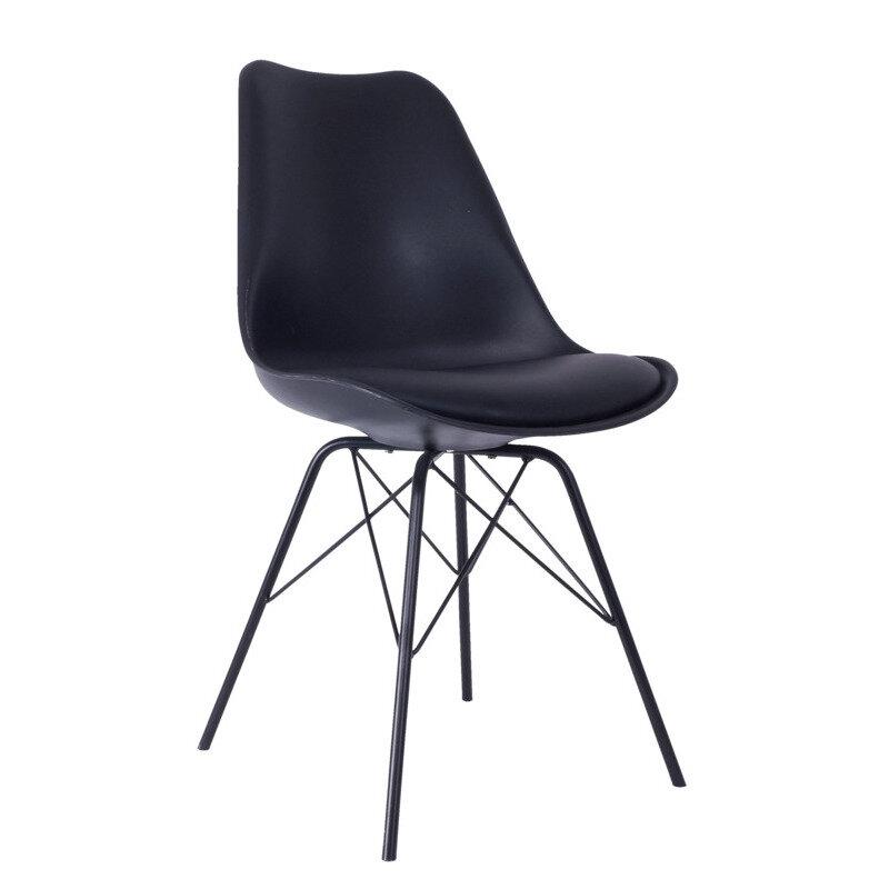 Venedig spisebordsstol sort med sort stel