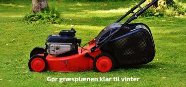 vinterklargøring af græsplæne