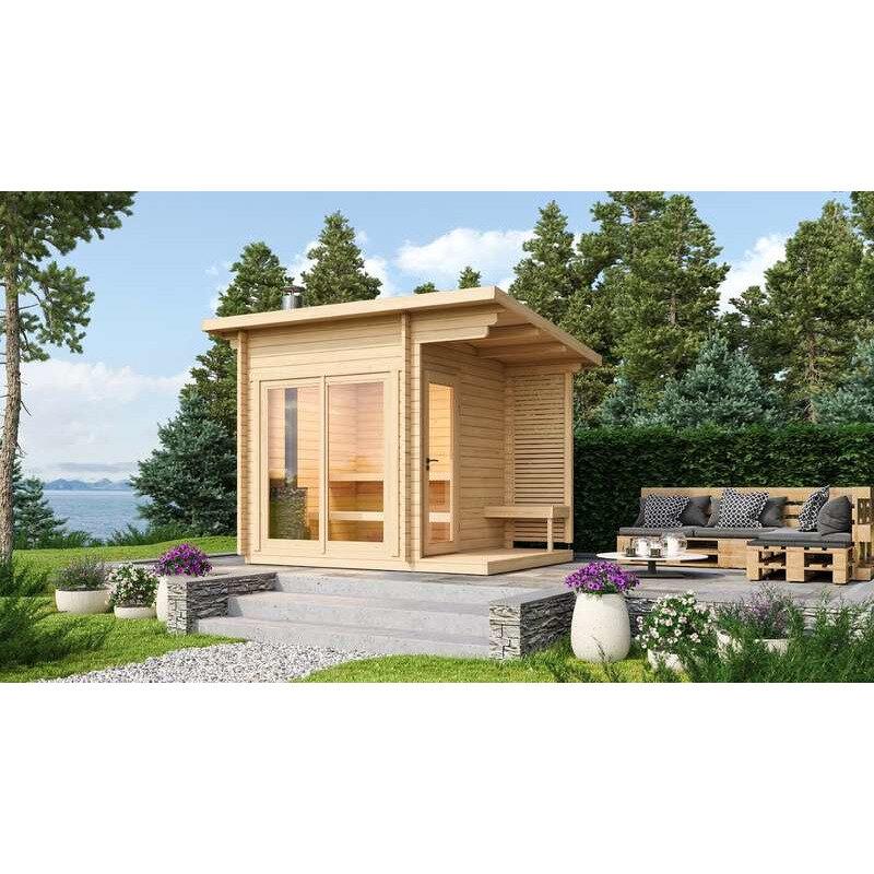 Halden S sauna m/el-ovn inkl. overdækning