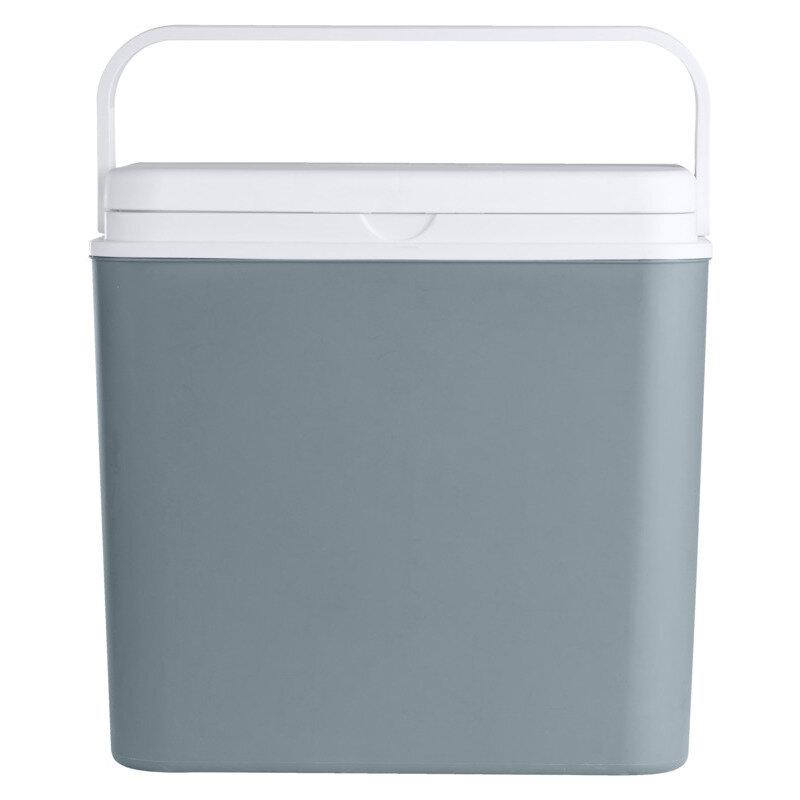 Køleboks grå og hvid, 24 liter