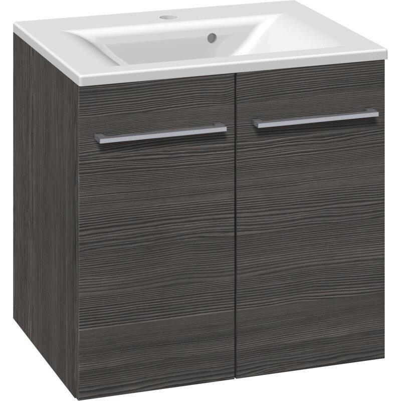 Scanbad Multo vaskeskab m. låger inkl. Mikado vask 60 cm pine grey