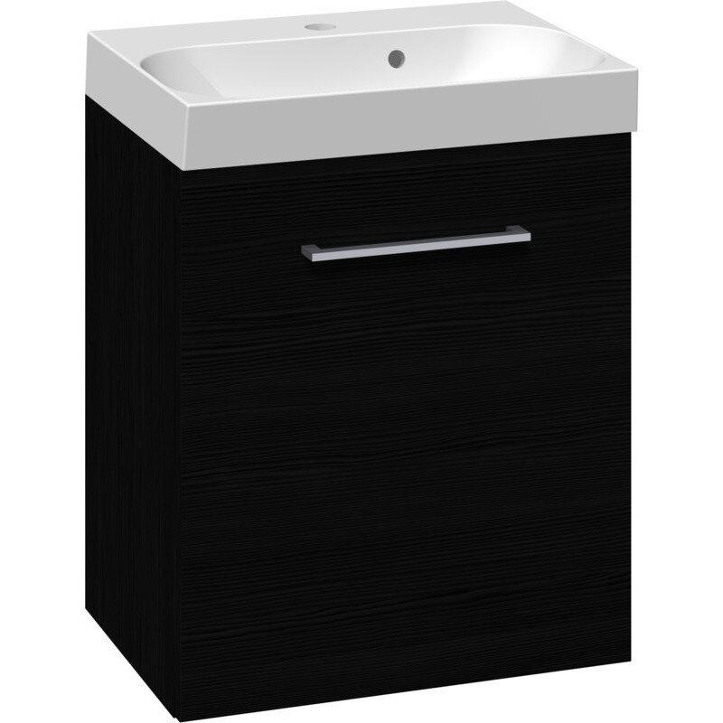 Scanbad Multo vaskeskab. m låge inkl. Uno vask 50 cm sort