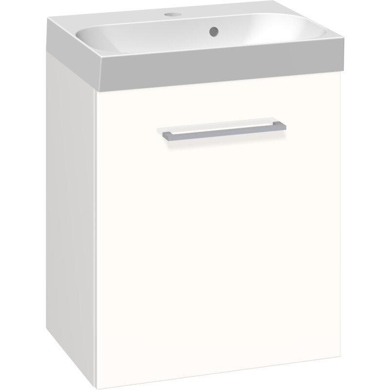 Scanbad Multo vaskeskab m. låge inkl. Uno vask 50 cm hvid højglans
