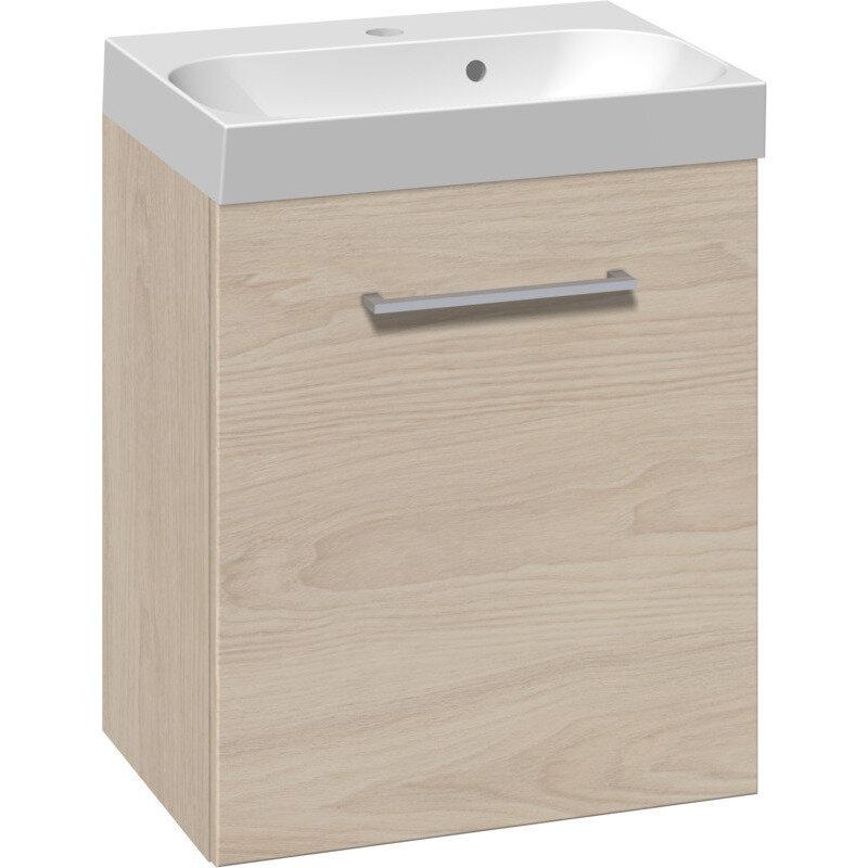 Scanbad Multo vaskeskab m. låge inkl. Uno vask 50 cm. hvid elm