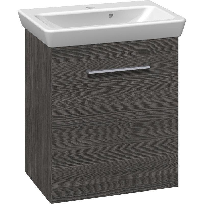 Scanbad Multo vaskeskab m. låge inkl. Lotto vask 55 cm pinegrey