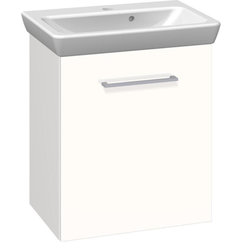 Scanbad Multo vaskeskab m. låge inkl. Lotto vask 55 cm hvid højglans