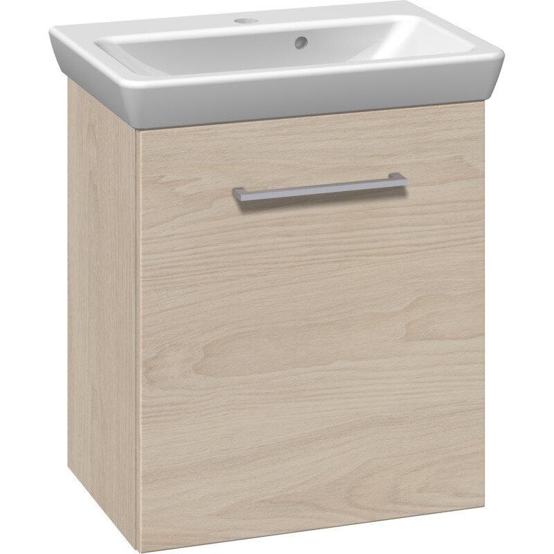 Scanbad Multo vaskeskab m. låge inkl. Lotto vask 55 cm hvid elm