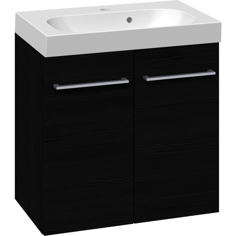 Scanbad Multo vaskeskab m. låger inkl. Uno vask 60 cm sort