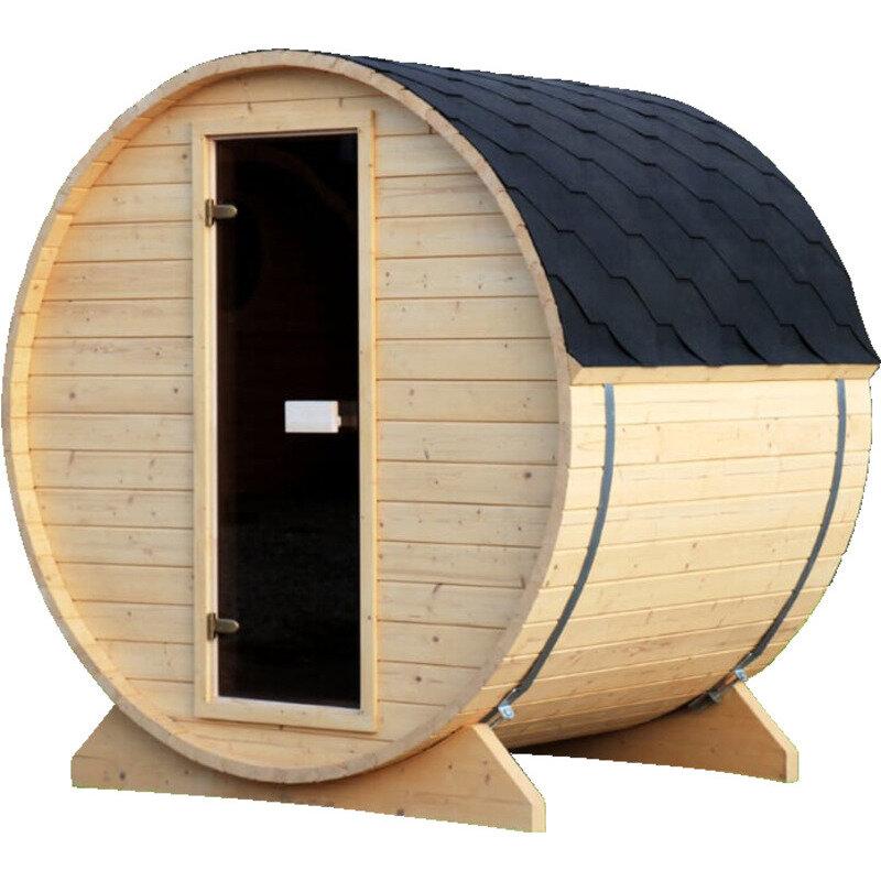 Udendørs saunatønde naturfarvet 2-3 pers. - 205x164 cm