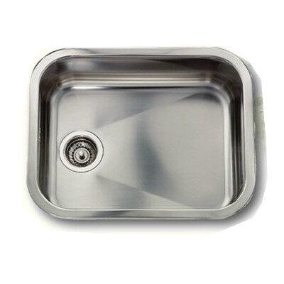 Stålvask blankt rustfrit stål - 48x34 cm inkl. strainer