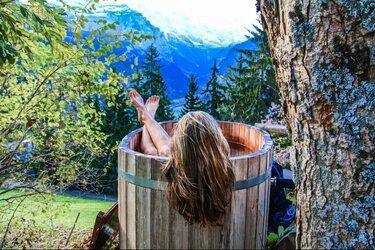 vildmarksbad i træ