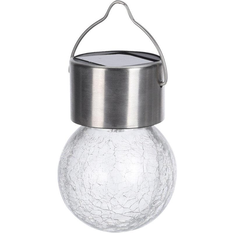 Solar lyspære Ø6 cm krakeleret glas