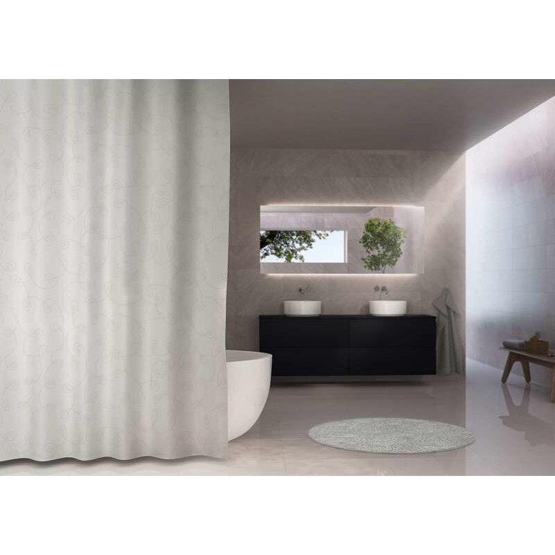 Debel Hilton badeforhæng 120x200 cm hvid