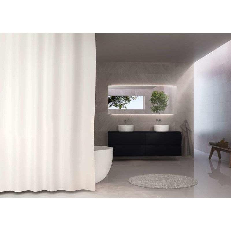 Debel Uni badeforhæng 180x200 cm hvid