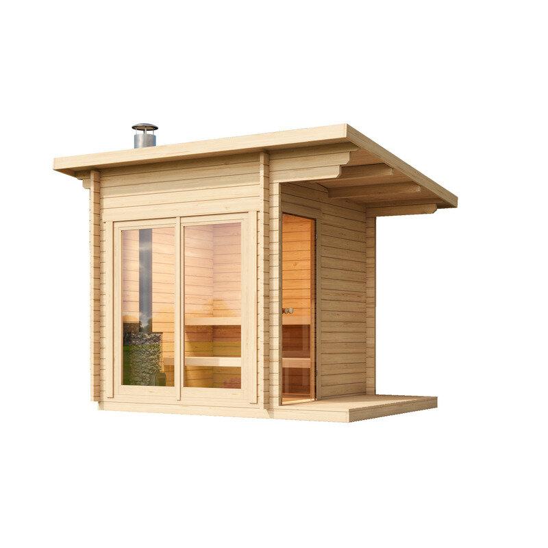 Halden XS sauna m/el-ovn inkl. overdækning