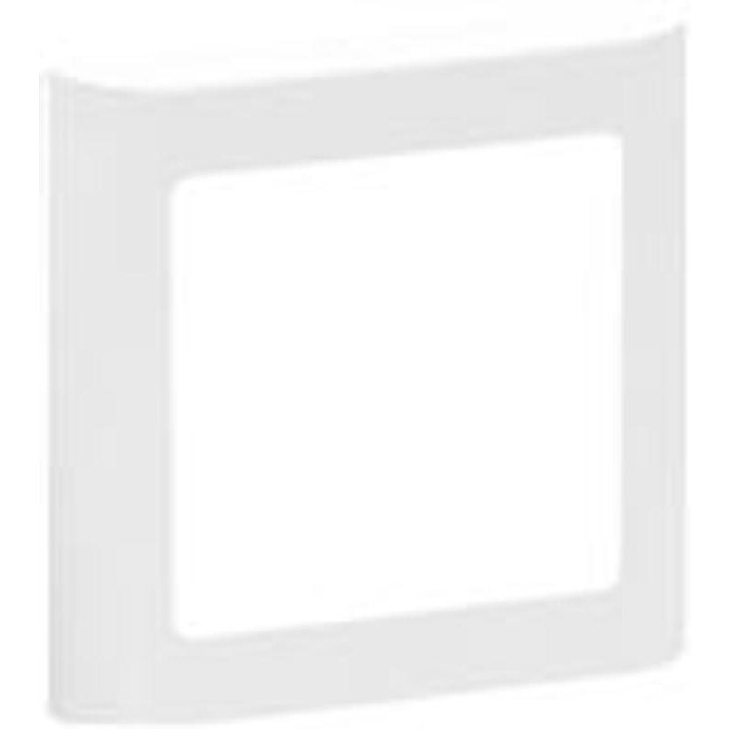 LK Fuga soft design inkl. Ramme 1 modul hvid