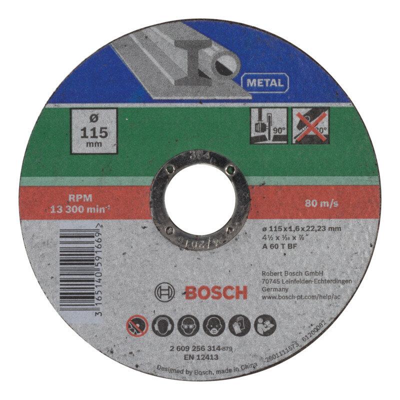 Bosch skæreskive til vinkelsliber, metal lige Ø115 mm