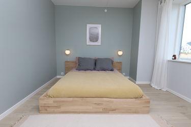 seng soveværelse grønt hus
