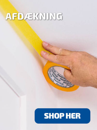 Shop afdækning til maling