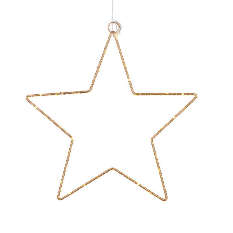 Sirius Liva julestjerne m/LED-lys guld