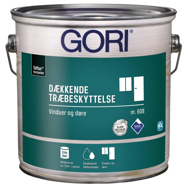 GORI 608 dækkende træbeskyttelse vinduesmaling ral 9010 hvid 0,75 L