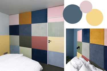 stofbeklædt vægpanel i mange farver