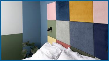 nybyggerne blåt hus soveværelse