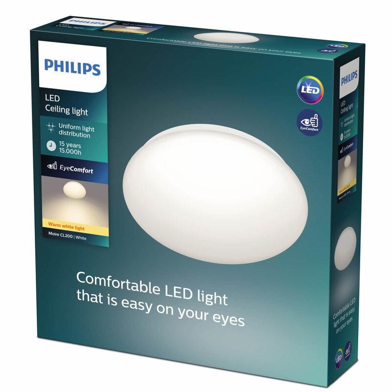Philips Moire plafond 10W hvid