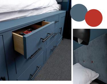 multifunktionel seng med opbevaringsplads