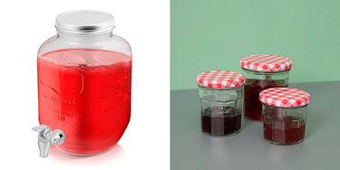 Opbevaringsglas og flasker