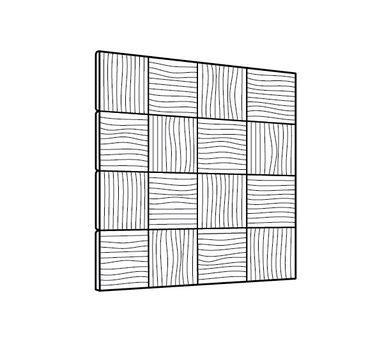 Stregtegning af stofbeklædt væg