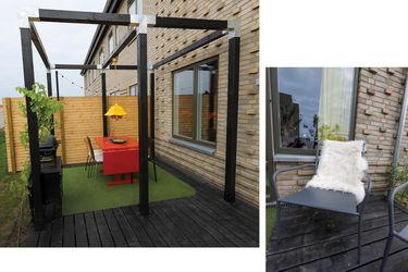 åben pergola på terrasse
