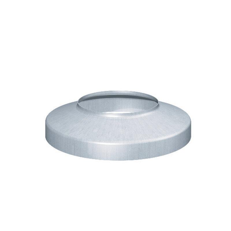 Rheinzink brøndkrave m/muffe 76X150 mm