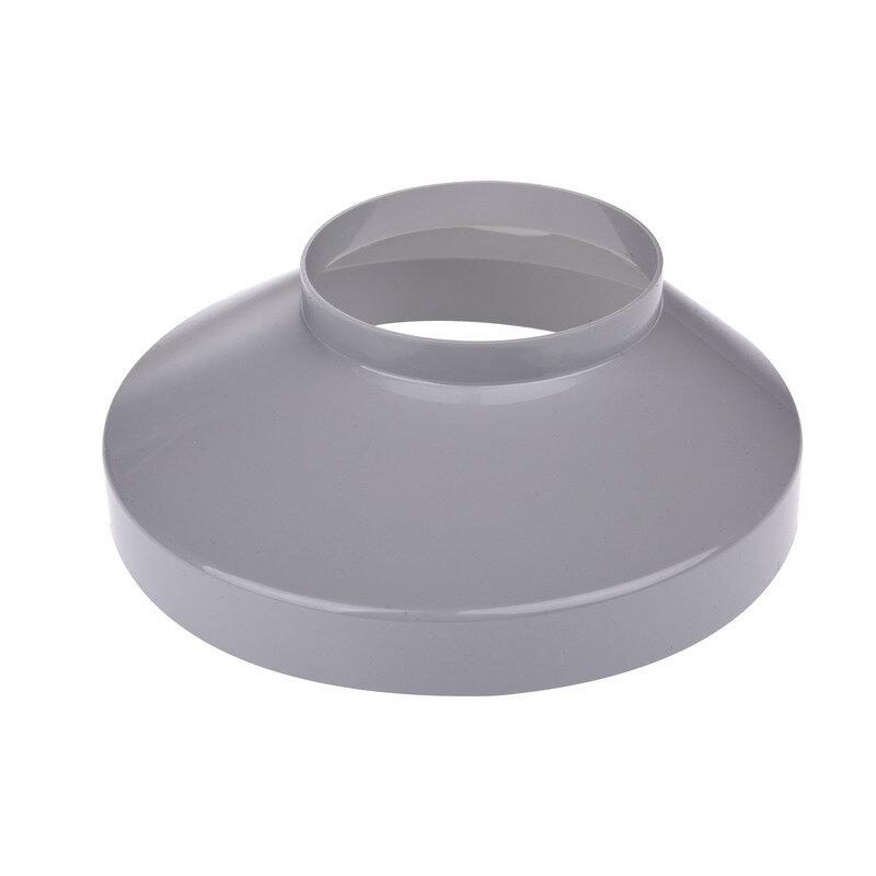 Plastmo brøndkrave grå - 75x150 mm