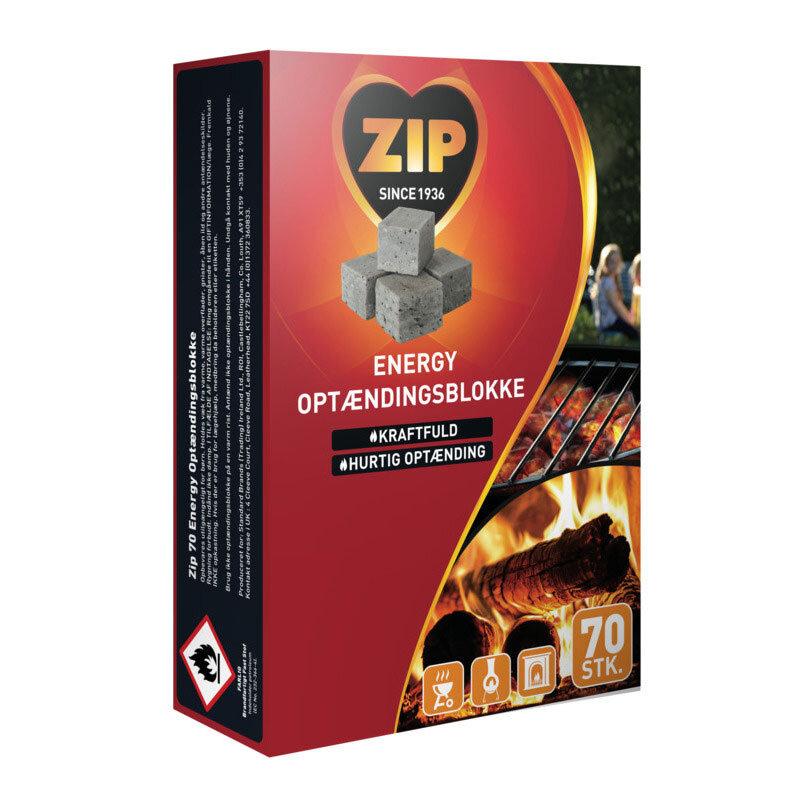 ZIP rød original optændingsblokke - 70 stk.