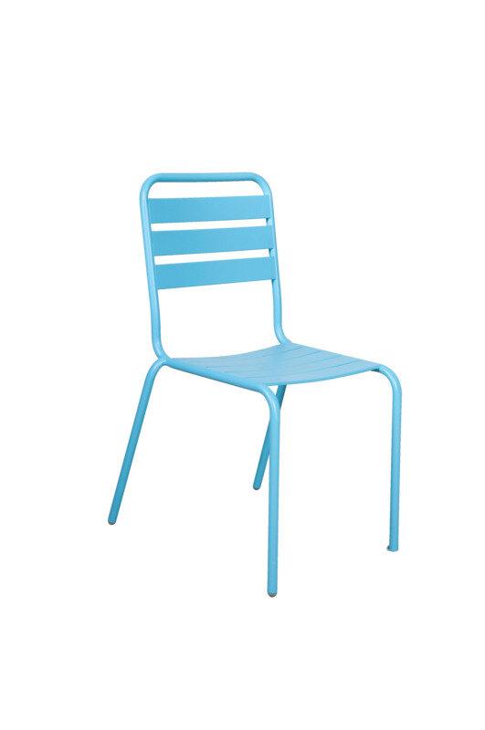 Strib havestol, blå