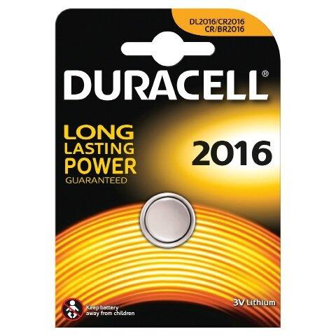 Duracell batteri Electronics knapcell CR2016 - 1 stk. pk.
