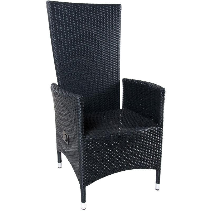 Samsø havestol med vipperyg, sort