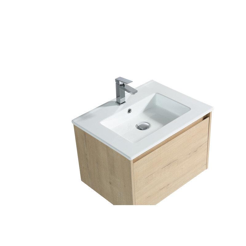 Badmøbel m/porcelænsvask 60 cm vic oak